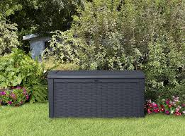 Keter Glenwood 390 Litre Deck Box by Keter Aufbewahrungsbox Borneo Gartenkissenbox In Grau 416l