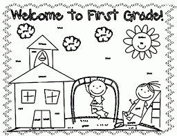 Backgrounds Coloring First Grade Colouring Sheet On Fall Pages For