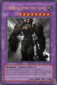 Yugioh Structure Deck List Wiki by Elemental Hero Clay Edge Yu Gi Oh Card Maker Wiki Fandom