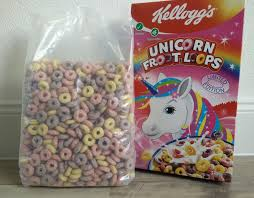 Kelloggs German Unicorn Froot Loops Cereal Review Box