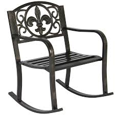 Metal Rocking Chair - Bronze – Best Choice Products Leigh Country Char Log Patio Rocking Chair With Startx 93605 The Simple Wooden Cushions All Modern Chairs Old World Charm Of Amish Lakeland Mills Chaircf1125 Home Depot Studio 47 Jive Swivel Gliding Rocker Morris Glider Fniture Ideas 14 Awesome Designs For Your Trueshopping Bowland Adirondack For Garden Or Sedona Hom Traditional Wood Coaster Fine Costa Rican High Back I So Gret Not Buying This
