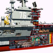 100 Aircraft Carrier Interior CVN76 Cutaway