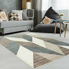 details zu teppich modern designer wohnzimmer inspiration beige