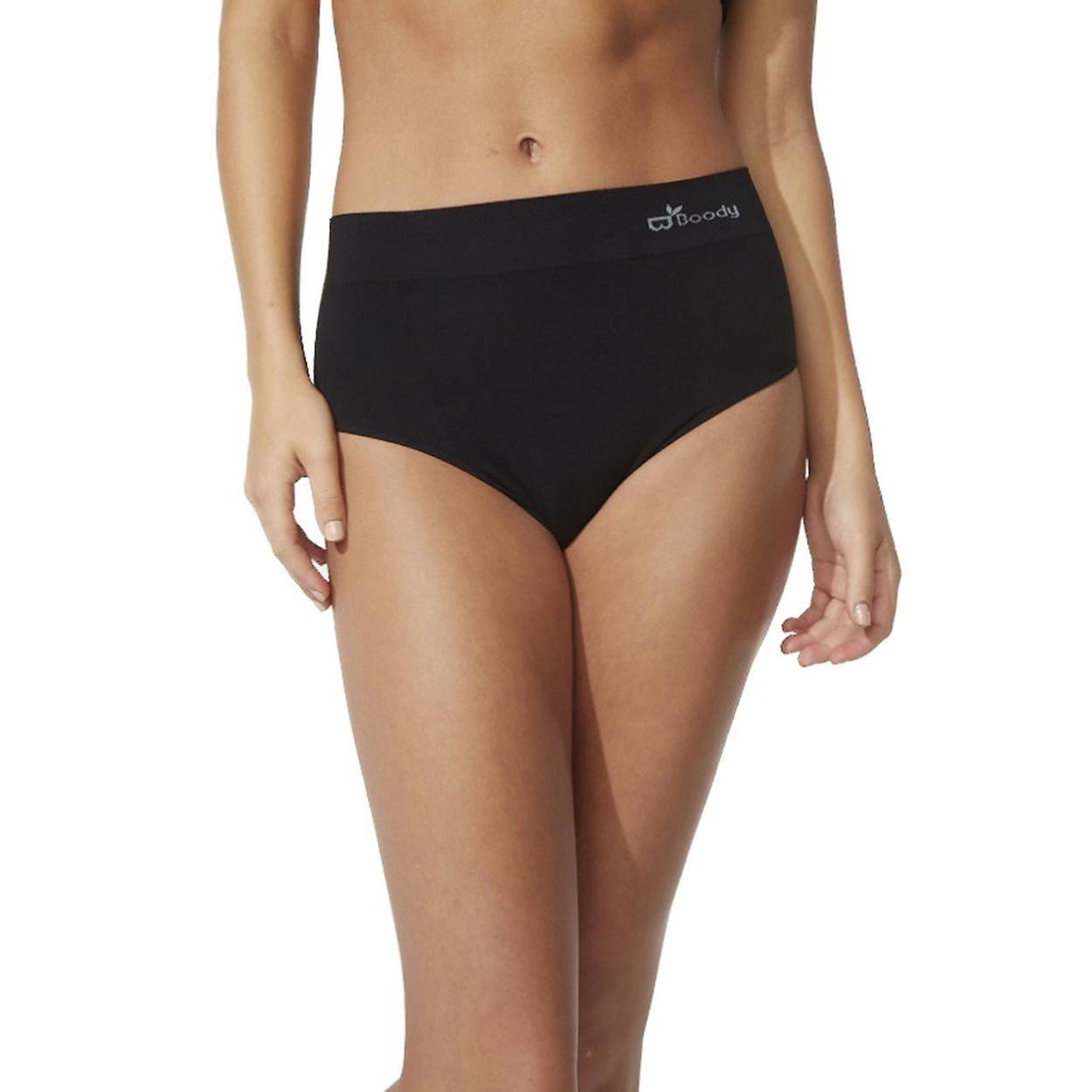 Boody Organic Bamboo Full Brief Black - Large Pack