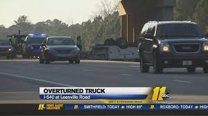 Overturned Truck Closes Lanes On I-540 In Raleigh | Abc11.com A View Of An Overturned Truck On Highway In Accident Stock Traffic Moving Again After Overturned 18wheeler Dumps Trash On Truck Outside Of Belvedere Shuts Down Sthbound Rt 141 Us 171 Minor Injuries Blocks 285 Lanes Wsbtv At Millport New Caan Advtiser Drawing Machine Photo Image Road Brutal Winds Overturn Trucks York Bridge Abc13com Dump Blocks All Northbound Lanes I95 In Rear Wheels Skidded Royalty Free