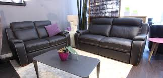 canape cuir et tissu magasin de salon canapé lille valenciennes l univers interieur