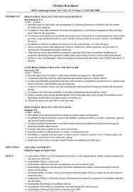 Download Behavioral Health Case Manager Resume Sample As Image File