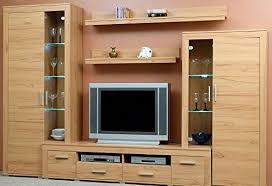 anbauwand kernbuche dekor wohnzimmerschrank tv wohnwand kernbuche 1537