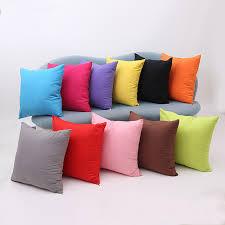 gros coussins pour canapé 45 45 cm pas cher en gros solide couleur housse de coussin pour