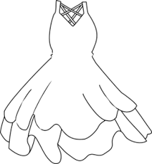 Gown clipart black and white 2