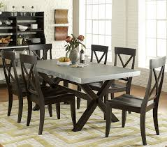 Keaton II 7 Piece Trestle Table And X Back Side Chair Set By Liberty Furniture At Johnny Janosik