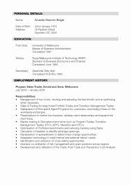 Resume Format For Banking Sector Freshers Lovely Title Best Of Sample