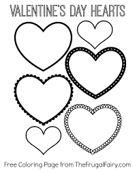 Hearts Coloring Pages Free Valentines Heart Printable Tiny