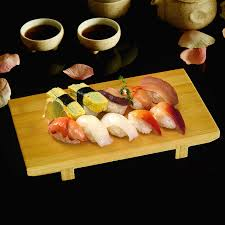 cuisine japonaise style bamboo sushi plate tableware food container board