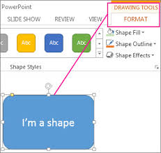 When A Shape Is Selected The Drawing Tools Appear
