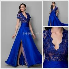 blue lace prom dresses with sleeves naf dresses