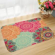 non slip door mat boho mandala carpet floor mat kitchen