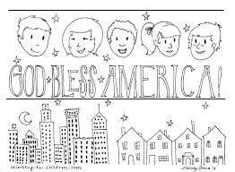 God Bless The Usa Coloring Pages Located In USA Category Free Printable For Kids