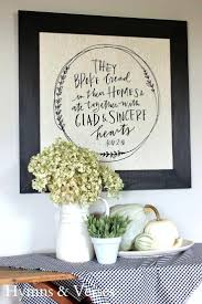 Kitchen Wall Art Decor Ideas Like This Verse For The Dining Room Acts Framed Tea Towel Grace Gratitude Pitcher And Platter Hymns