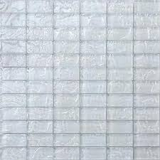 Image Is Loading Glass Mosaic Wall Tiles Textured Lava Pearl White