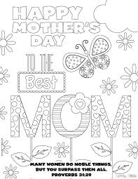 Download Best Mom Coloring Page PDF