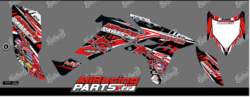 kit déco officiel all racing parts pour 700 raptor kutvek www