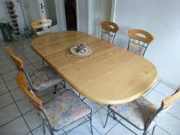 esszimmer essgruppe tisch 8 stühle roheisen erle massiv
