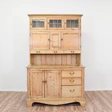 rustic light pine kitchen china hutch loveseat vintage furniture
