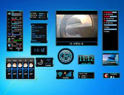 gadget de bureau windows 8 blue gadgets set widget for windows 7 http win7gadgets com pc