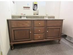 Diy L Shaped Bathroom Vanity by Custom Vanity Project Using Queen Anne Style Legs Osborne Wood