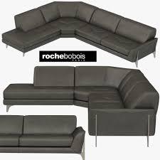 100 Roche Bobois Leather Sofa REFLEXION CORNER COMPOSITION 3D Model