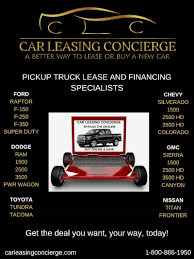 100 Best Truck Leases Drive The New Pickup Deals CAR LEASING CONCIERGE