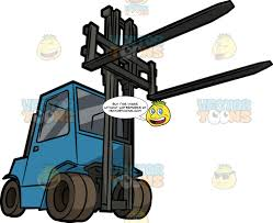 100 Powered Industrial Truck A Front Forklift Clipart Cartoons By VectorToons