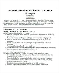 Professional Administrative Resume Office Assistant Profile
