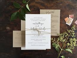 Simple Rustic Wedding Invitation