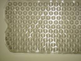 Bathtub Mat No Suction Cups by Clear Deluxe Vinyl Bath Mats W Inverted Suction Cups All Day