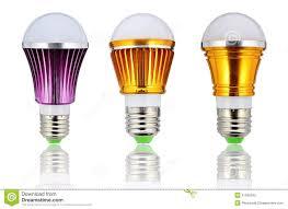 new type led l bulb or energy saving led light bulb stock image
