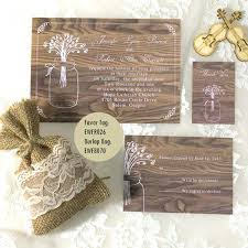 Rustic Wedding Invitation Packages Cheap Mason Jar Invitations Kits Canada