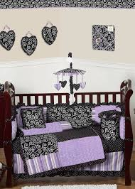 Sweet Jojo Designs Crib Bedding by Chic Classy Purple Damask Crib Bedding Only For Teen Room