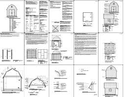 8 X 10 Gambrel Shed Plans by Free Gambrel Shed Plans Shed Plans Kits