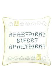 Home Sweet Apartment At Embroidered Accent Pillow Tapestry