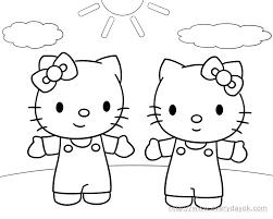 Coloriage Hello Kitty Avec Modele Coloriage Pinterest