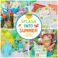 Schools Out PartySummer Celebration For Kids Birthday