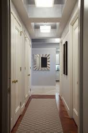 lights hallway ceiling light with square glass shade hanging on