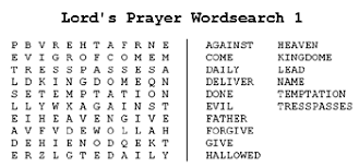 Rosary Prayers Wordsearch Puzzles