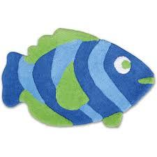 badematte badezimmer teppich fisch in 50x80cm farbe blau grün