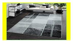teppich preiswert karo design modern wohnzimmerteppich grau
