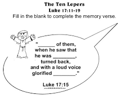 The Ten Lepers Memory Verse 001