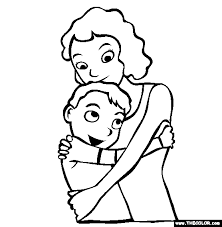 Mothers Day Love Online Coloring Page