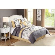 Bed Skirts Queen Walmart by Better Homes And Gardens 7 Piece Peonies Comforter Set Walmart Com